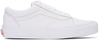 Vans White OG Old Skool LX Sneakers $100 thestylecure.com