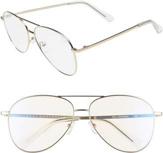 Quay Still Standing 58mm Aviator Fashion Glasses