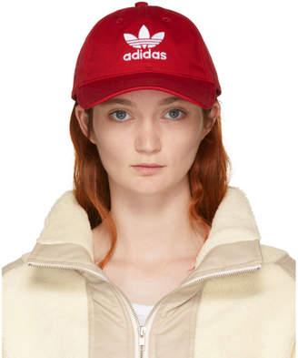 adidas Red Trefoil Cap