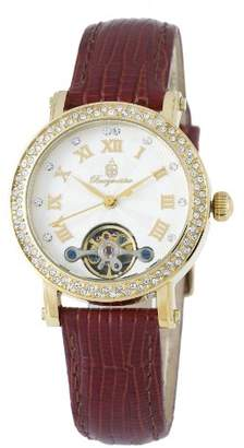 Burgmeister Women's 'Monrovia' Quartz Stainless Steel and Leather Casual Watch