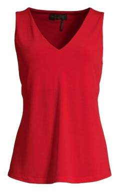 Donna Karan Sleeveless V-Neck Top