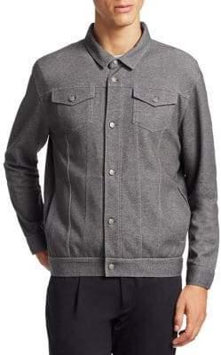 Saks Fifth Avenue MODERN Point Collar Denim Jacket