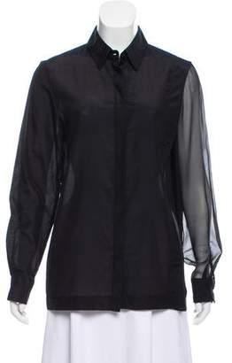 Cushnie et Ochs Long Sleeve Button-Up Top