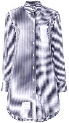 Thom Browne longline striped button-down shirt