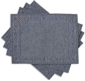 Sur La Table Indigo Quilted Placemats, Set of 4