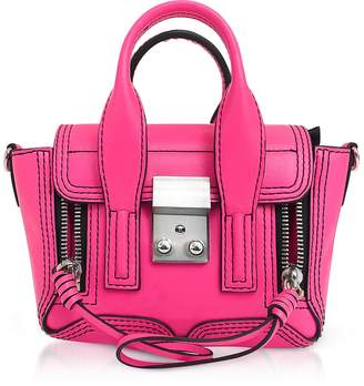 3.1 Phillip Lim Neon Pink Leather Pashli Nano Satchel