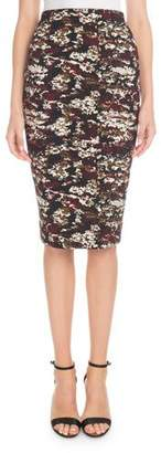 Victoria Beckham Printed Knee-Length Pencil Skirt