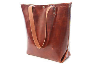 Colsenkeane Leather No. 417 Havana Brown Leather Tote