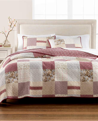 Martha Stewart Collection Farmhouse Reversible Patchwork King Quilt