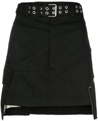 Helmut Lang military patch mini skirt