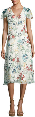 Willow & Clay Floral-Print Ruffle-Sleeve Midi Dress $85 thestylecure.com