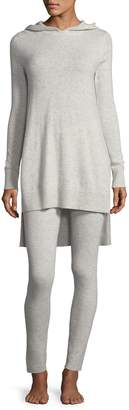 Neiman Marcus Cashmere Hoodie & Ribbed Legging Lounge Set