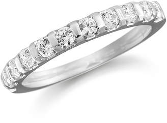 Platinum 0.77ct Bar Set Half Eternity Ring