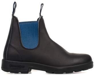 Blundstone Black/electric Blue Leather Low Boot