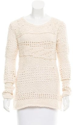 Inhabit Long Sleeve Open Knit Sweater w/ Tags $125 thestylecure.com