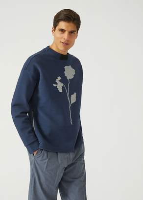 Emporio Armani Jacquard Sweater With Zip