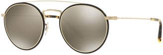 Oliver Peoples Ellice Photochromic Titanium Round Sunglasses