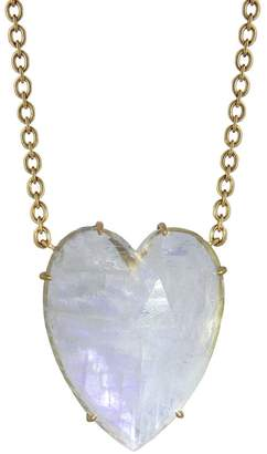 Irene Neuwirth Rose Cut Rainbow Moonstone Heart Necklace - Yellow Gold