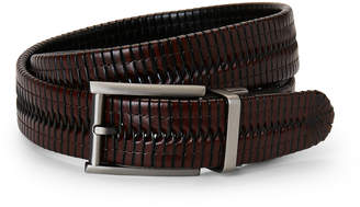 Bosca Braided Reversible Leather Belt