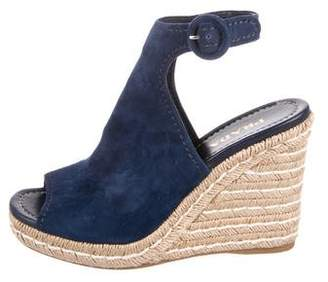 Prada Suede Espadrille Sandals