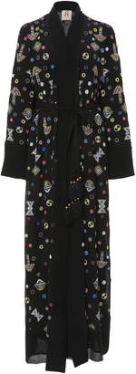 Figue Olatz Embroidered Silk Duster
