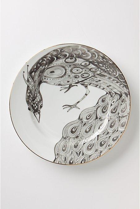 Peacock Dinner plate