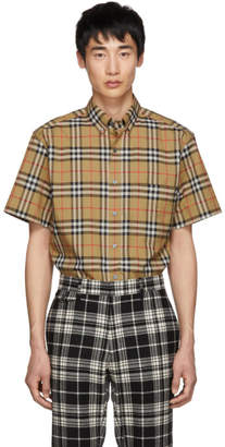 Burberry Beige Vintage Check Short Sleeve Shirt