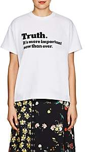"Sacai Women's ""Truth"" Cotton T-Shirt - White"