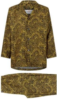 Daniel Hanson Paisley Silk Pyjama Set