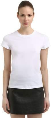 Courreges (クレージュ) - COURRÈGES ロゴプリント コットンジャージーTシャツ