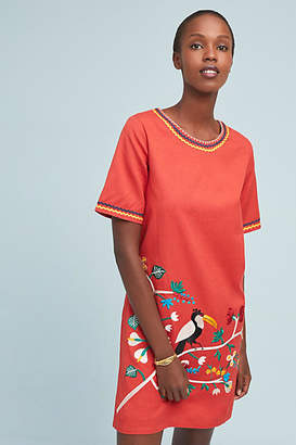 Corey Lynn Calter Toucan Embroidered Dress