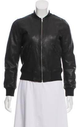 Etoile Isabel Marant Leather Bomber Jacket