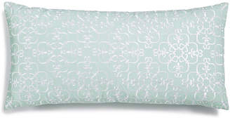 """Charter Club Damask Designs Embroidered 12"""" x 24"""" Decorative Pillow, Created for Macy's Bedding"""
