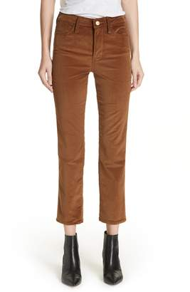 Frame Le High Ankle Straight Corduroy Pants