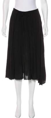 Raquel Allegra Pleated A-Line Midi Skirt