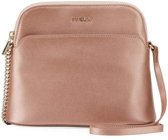 Furla Miky Metallic Saffiano Leather Crossbody Bag