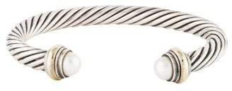 David Yurman Pearl Cable Cuff