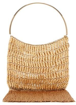 6070df60eb7 Rosantica By Michela Panero - Georgina Beaded Fringe Trimmed Bag - Womens -  Brown Multi