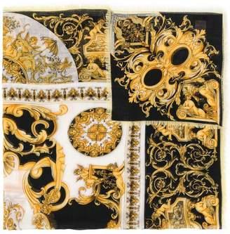 Versace Barocco print scarf