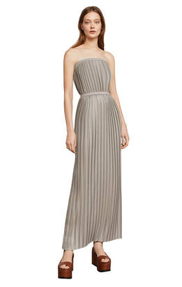 BCBGMAXAZRIA Mateo Off-The-Shoulder Pleated Gown