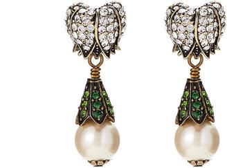 Heidi Daus Magnificent Maybells Crystal-Embellished Drop Earrings