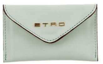Etro Leather Card Holder