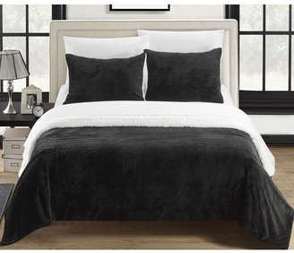 Chic Home Evie 2-Pc Twin Xl Sherpa Blanket Bedding