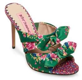 Betsey Johnson Floral Stiletto Sandals