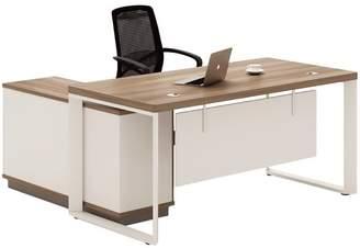 Light Walnut Harvey Reversible Executive Desk