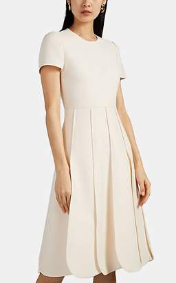 4fa0c1e6481 Valentino Women s Wool-Blend   Silk Scalloped-Hem Midi-Dress - Ivorybone