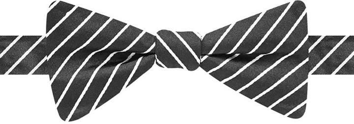 Countess Mara Fine Line Stripe Pre-Tied Bow Tie