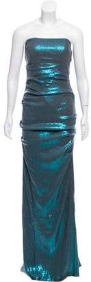 Nicole Miller Sequined Evening Dress