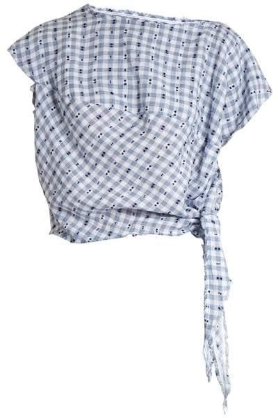 Vivienne Westwood Balloon short-sleeved gingham blouse