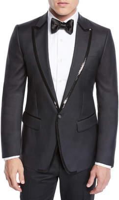 DSQUARED2 Men's Sequin Wool\/Silk Tuxedo Jacket